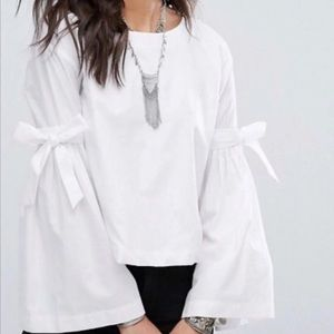 """Free People """"Obviously Yours"""" Top White"""